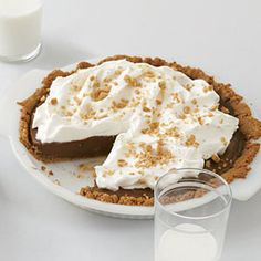 Mexican Chocolate Cream Pie recipe! This yummy version has ground red pepper and espresso for an extra kick!