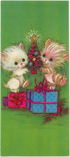Christmas card kittens