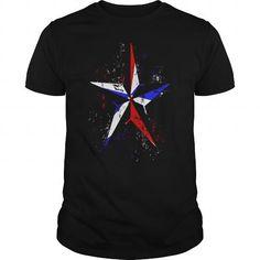 Awesome Tee American Flag Nautical Star  Grunge america patriot USA t shirt T shirts