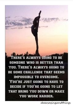 Cheerleading quotes, cheer quotes, sport quotes, cheer sayings, socce Inspirational Gymnastics Quotes, Motivational Quotes, Positive Quotes, Gymnastics Sayings, Gymnastics Facts, Gymnastics Stuff, Amazing Gymnastics, Gymnastics Coaching, Basketball Quotes