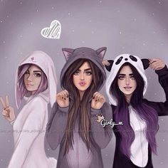 best friends images Girly_m Tumblr Drawings, Girly Drawings, Sarra Art, Best Friend Drawings, Best Friends Forever, Three Best Friends Quotes, Dream Friends, Friends Girls, Friend Pictures