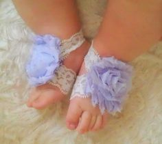 light purple shabby chic flower lace by puffycheeksbowteek on Etsy, $6.50