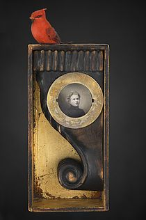 Mixed Media assemblage and collage art by Chicago artist Kass Copeland. Handmade boxes created from discarded, recycled furniture inspired by Joseph Cornell. Collages, Collage Art, Found Object Art, Found Art, Recycled Furniture, Recycled Art, Chicago Artists, Science Fiction Art, Assemblage Art