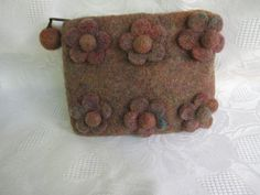 Felted WalletFLOWERS by cityofangel on Etsy, $19.90
