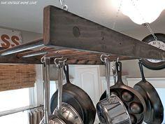 cool ladder pot rack