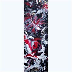 "Daily+Paintworks+-+""Flowers+Reflection+III""+-+Original+Fine+Art+for+Sale+-+©+Khrystyna+Kozyuk"