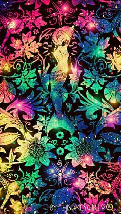 Mermaid galaxy wallpaper I created for the app CocoPPa
