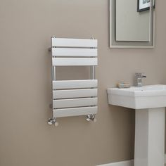 Lorenzo Beta Heat 650 x 400mm Chrome Heated Towel Rail  - Stainless Steel Bathroom Radiators - Better Bathrooms
