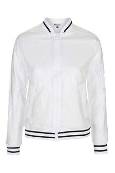 See-Through Plastic Bomber Jacket