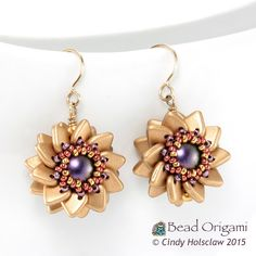 Bead Origami: New Beading Video: Weaving Beaded Beads with Two-Hole Beads.  $19.95USD from BeadingDaily  ~ Seed Bead Tutorials