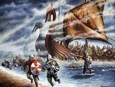 The Vikings in the British Isles - Berloga-workshop Viking Life, Viking Warrior, Ancient Vikings, Norse Vikings, Vikings Art, Norwegian Vikings, Viking Culture, Celtic Culture, Renaissance