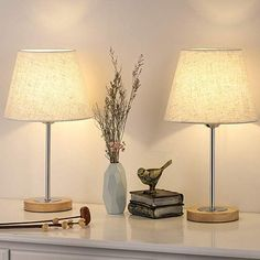 Nightstand Table Lamp for Bedroom Small Wood Desk Lamps Set of (Wood Lamp Set) - Bedroom Lamps - Ideas of Bedroom Lamps Bedside Desk Lamps, Wood Desk Lamp, Table Lamps For Bedroom, Wood Lamps, Bedroom Decor, Bedroom Ideas, Small Lamps, Bedroom Night Stands, Lamp Sets