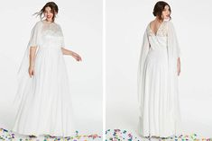 Pear shapes, hourglass figures and plus sized ladies, rejoice. Take a look at these 21 wedding dress ideas for brides with curves Ceremony Dresses, Wedding Ceremony, Wedding Dresses, Pear Shapes, Wedding Gowns With Sleeves, Curvy Bride, Hourglass Figure, Bobs, Brides