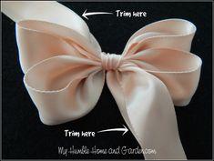 Ribbon Hair Bows, Diy Hair Bows, Diy Bow, Diy Ribbon, Ribbon Flower, Fabric Flowers, Paper Flowers, How To Make Hair, How To Make Bows
