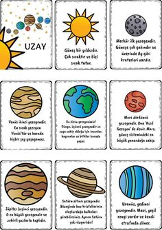 New Students: Getting An Education On College Science Lessons, Science Education, Science For Kids, Primary School, Pre School, Solar System Poster, Science Anchor Charts, Learn Turkish, Montessori Baby