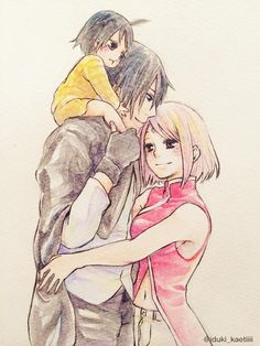 Sasusaku family [by https://twitter.com/iduki_kaetiiii]