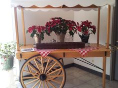 Market cart - with sunken ice well for a raw bar, a beverage bar or solid wood cover for a dessert bar.  Rent it from Taylor Rental Party Plus of Manchester and West Hartford  CT      http://taylorrentalpartyplusct.com/
