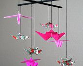 I'm making my daughter a crane mobile. origami is so simple and beautiful but hard!