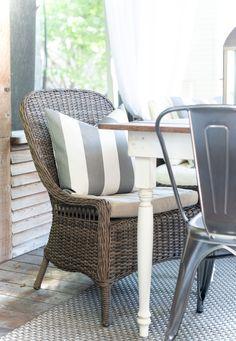 gray and white stripe fabric