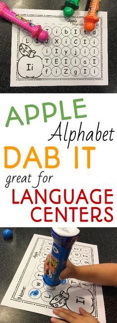 My kids love working with bingo markers! I know your preschool or kindergarten students will love working with these fun and educational apple themed alphabet dab it no prep printables. Your children will enjoy working on uppercase and lowercase letter recognition in the language center during your back to school unit or apple unit!