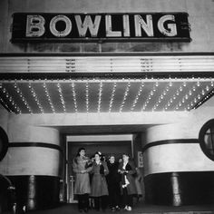 size: Photographic Print: Members of a Women's Bowling League Exiting the Bowling Alley by Charles E. Old Fashioned Games, Family Fun Night, Life Magazine, Bowling, Poster Poster, Posters, Catalog, Image, Artists