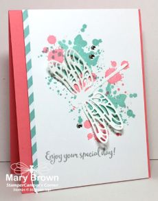 Oooooo…it's the LAST Create with Connie and Mary Thursday Challenge of 2016 and we have a cool color challenge for you…Flirty Flamingo, Pool Party and Smoky Slate (or Silver). The…