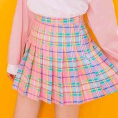 Candy colored tennis skirts SE10397