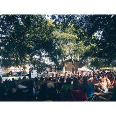 When free music in the park includes @marcbroussard you know it's a good Saturday.  Great fall kickoff @muscornernash!