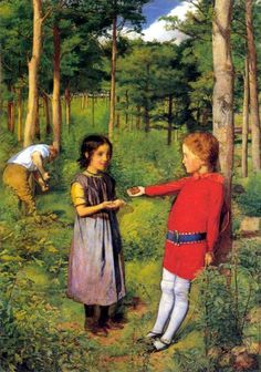 The Woodman's Daughter by Sir John Everett Millais :: artmagick.com