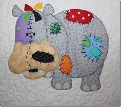 Cute hippo block