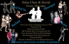 "Here is a video of one of our classes right before our weekly Salsa Social. Join us every Thursday! Click ""Post"" to see the awesomeness. :) // Post by Loretta Ramsingh."