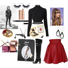 Emma Peel The Avengers by theresa-thomas714 on Polyvore featuring polyvore fashion style Thierry Mugler Funlayo Deri Fogal Chanel Queensbee L. Erickson Charlotte Tilbury Benefit Elizabeth Arden Stila