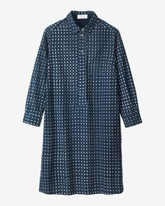 IKAT CHECK SHIRT DRESS by TOAST