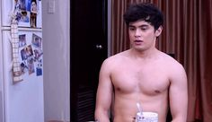 Look at that pan de sal. (No, not the bread, silly.)   We Need To Talk About James Reid We Fall In Love, Falling In Love, Lip Biting, James Reid, Jadine, People Laughing, We Need, Growing Up, Goodies