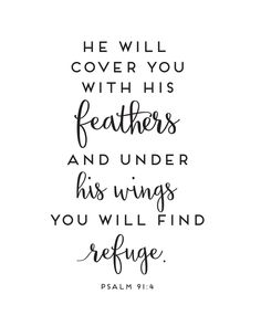 Psalm 91:4 Print - Sincerely, Sara D. | Home Decor & DIY Projects