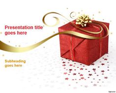 Free Christmas Gift PowerPoint Template is a present box design in a PowerPoint presentation template that you can download to make presentations for Christmas gifts