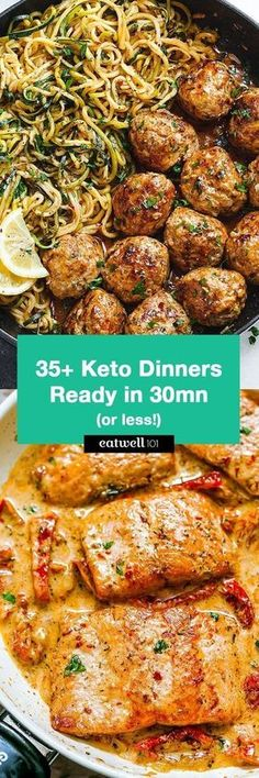 Keto Dinners You Can Make in 30 Minutes or Less – Perfect for helping you get in shape and free up your time in the kitchen! Keto Dinners You Can Make in 30 Minutes or Less – Perfect for helping you get in shape and free up your time in the kitchen! Ketogenic Recipes, Paleo Recipes, Low Carb Recipes, Cooking Recipes, Cooking Ribs, Keto Foods, Quick Recipes, Recipes Dinner, Crockpot Recipes