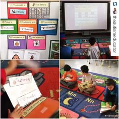 How to set up a calendar in a special education classroom.  Include hands on activities to keep kids engaged and on task