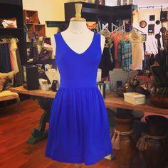 The Carolina Dress in Cobalt Silk - from @Jolie & Elizabeth.  So gorgeous.