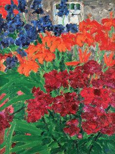 Flower Garden - Emil Nolde - The Athenaeum Emil Nolde, Edvard Munch, Vincent Van Gogh, Garden Painting, Buy Art Online, Abstract Landscape, Land Scape, Flower Art, Cool Art