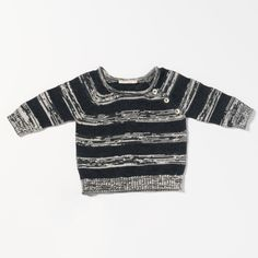 Luxurious Organic Infant and Baby Clothing: tops : Stripe Sweater w/ Rolled Neck