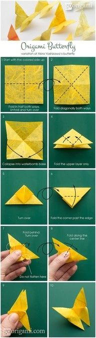 #Origami butterfly for Cynthia