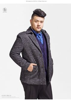 ae8989e393f7 Plus size Asian fashion and cute casual fashion Tall Men