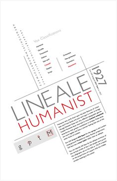 Lineale Humanist Typography Vox Classification Posters