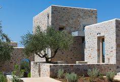 Architectural holiday homes and holiday rentals in Greece, award winning design, original engineering, holiday architecture. Quality over Quantity. No booking fees! Villa, Greek House, Greece Holiday, Boutique Homes, Home Design, Stone Houses, Building Exterior, Modern Architecture, Construction