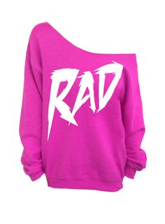 Rad - Hot Pink Slouchy Oversized Sweatshirt    (This listing is for the *HOT PINK* sweatshirt only! Each color has its own listing!)    SIZE MEDIUM.