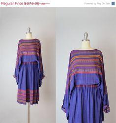 SALE / vintage 70s indian bohemian dress / by archetypevintage