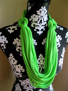 T shirt Scarf Infinity Scarf Braided Scarf by Scarvesbystephy, $20.00