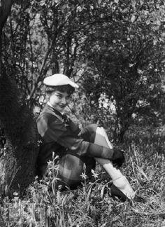 Audrey Hepburn at Kew Gardens, London, 1950: