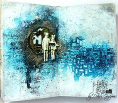 Guest Designer: 'True love' art journal sperad by Denisa Gryczova